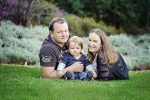 Jason Gilbert and family